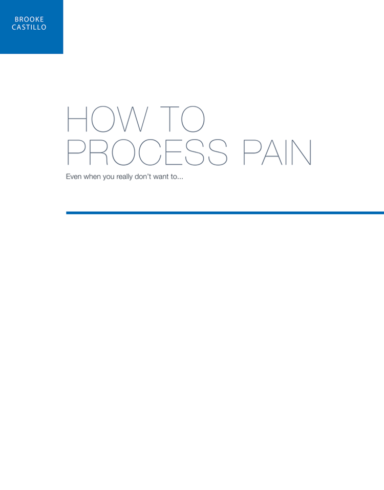 How To Process Pain Certification